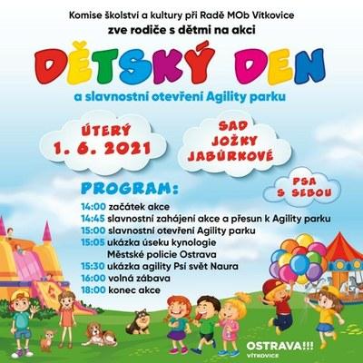 Dětský den a slavnostní otevření Agility parku - program