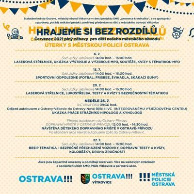 HRAJEME SI BEZ ROZDÍLŮ 2021 – Prevence kriminality města Ostravy a Městská policie Ostrava