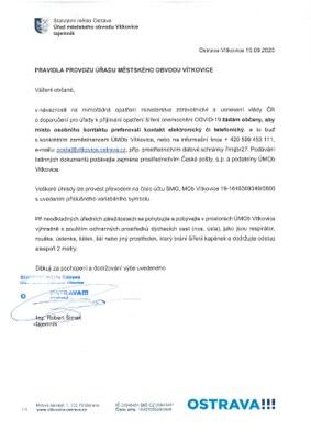 Mimořádná opatření v návaznosti na šíření nemoci COVID-19