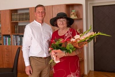 Rodačka z Vítkovic paní Lenka Kocierzová oslavila životní jubileum